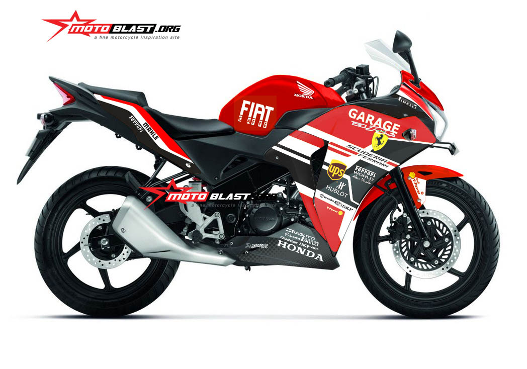 Modifikasi Striping Honda CBR150R Thailand RED Ferrari  MOTOBLAST