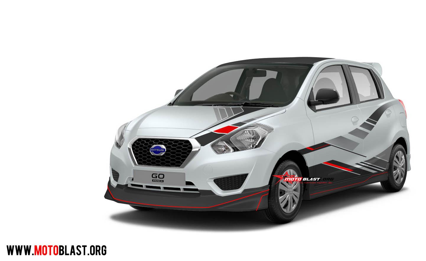 Modifikasi Striping Mobil Datsun GO Panca Berbagai
