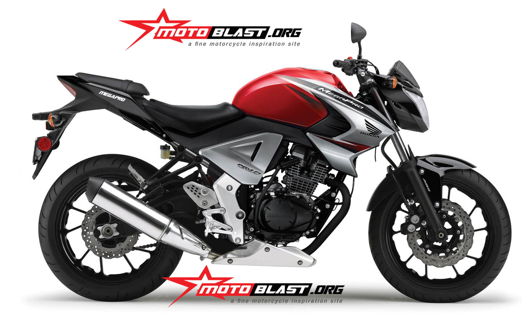 Modif New Honda Megapro 2014 Lebih Gagah Dan Streetfighter