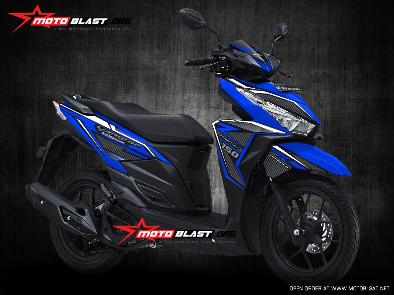 92 Modifikasi Motor Vario Warna Biru Terbaru Dan Terkeren