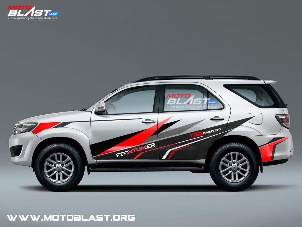 Modifikasi Striping Mobil Toyota Fortuner Sporty Motoblast